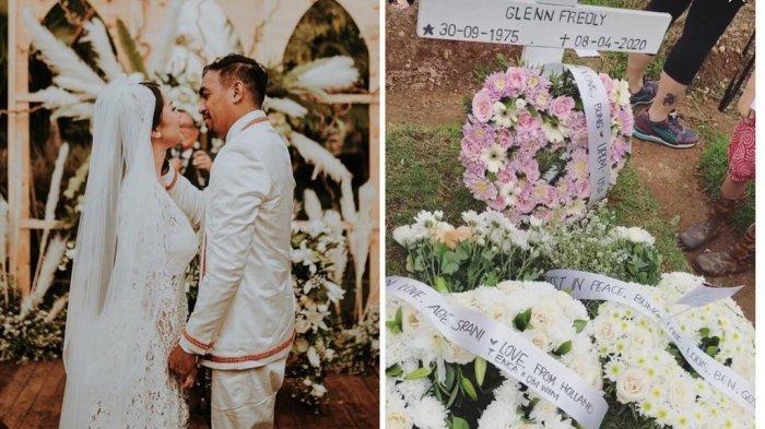 Rayakan Ulang Tahun Glenn Fredly, Mutia Ayu Tulis Puisi Pilu, Luapkan Rindu Datangi Makam Suami