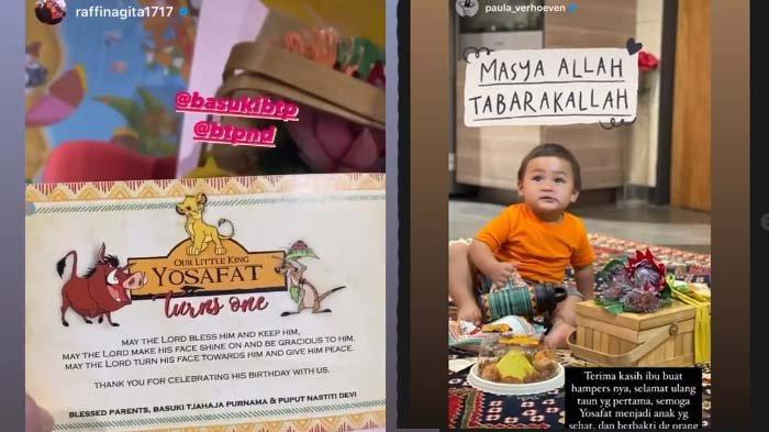 Nagita Slavina dan Paula Verhoeven dapat kado dari Ahok, dalam rangka ulang tahun Yosafat