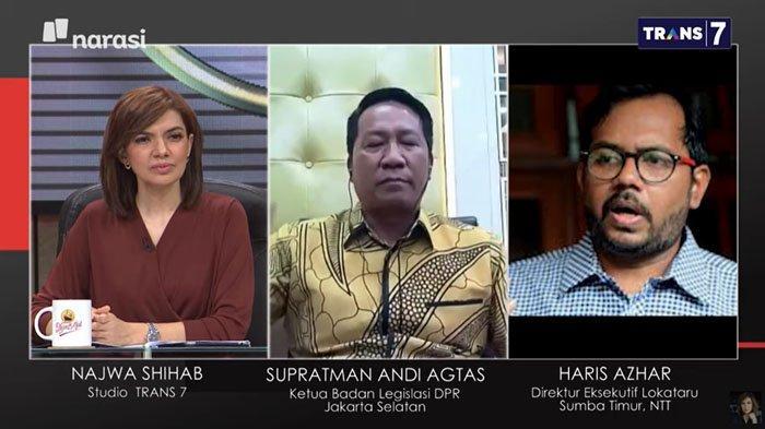 Hentikan Debat Sengit Haris Azhar dengan Ketua Baleg DPR, Najwa Sindir Puan : Gak Akan Matikan Mik