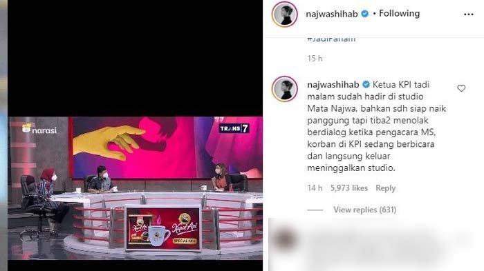 Najwa Shihab bongkar behind the scena Mata Najwa, Ketua KPI kabur dan tinggalkan acara