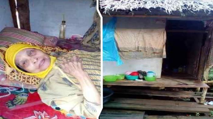 Nenek Renta Ini Lumpuh dan Tinggal Sendirian di Gubuknya, Sehari-hari Hanya Minum Air Putih