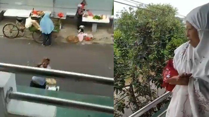 Viral Nenek Terapkan Social Distancing saat Beli Kerupuk, Aksinya Lempar Uang Bikin Netizen Tertawa