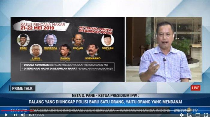 IPW Duga Keluarga Cendana Big Dalang Kerusuhan 22 Mei, Neta S Pane Desak Polisi Periksa TS
