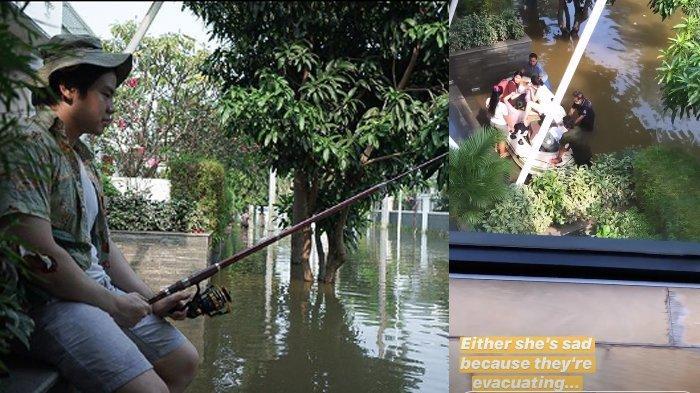 Foto Nicholas Sean Mancing Depan Rumah saat Banjir Tuai Sorotan, Anak Ahok: Tak Perlu Datangi Lautan