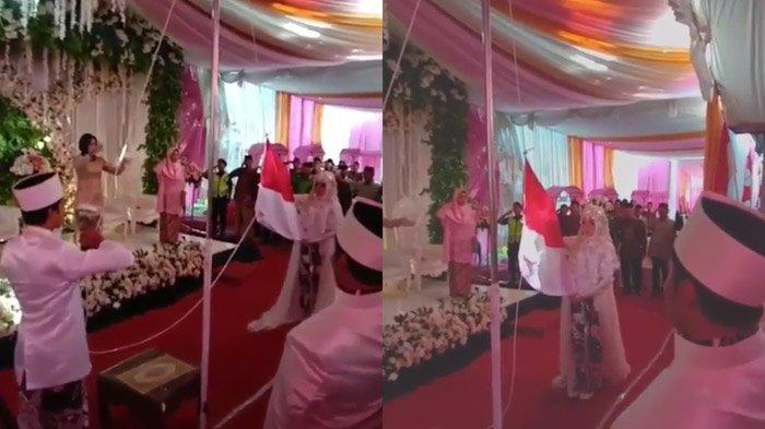 Menikah 17 Agustus Pengantin Kibarkan Bendera Depan Pelaminan, Ayah Mertua Jadi Pemimpin Upacara