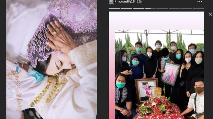 Nikita Willy dan Winona Willy posting kabar duka soal nenek meninggal dunia hingga pemakamannya