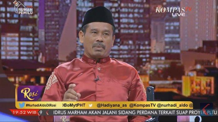Capres parodi Nurhadi-Aldo saat diundang di acara Rosi Kompas TV