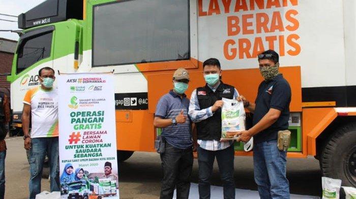 Bantu Petugas Medis di RSUD Kota Bogor, ACT Gelar Operasi Pangan Gratis