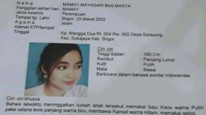 Perempuan Cantik Asal Bogor Ini Dilaporkan Hilang, Dicari Keluarganya