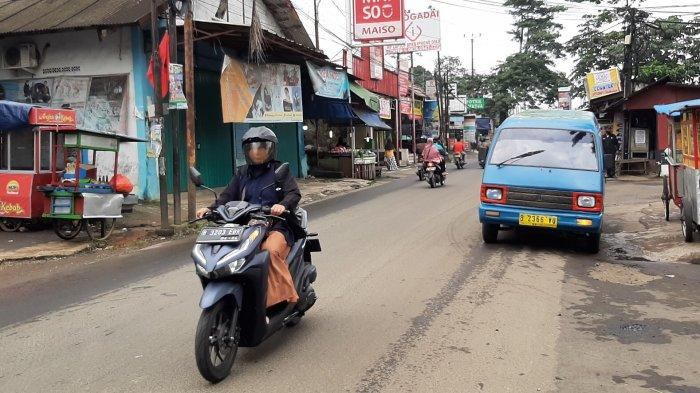 Pagi Ini Jalan Raya Pabuaran Bojonggede Lancar di Kedua Arah, Cuaca Mendung