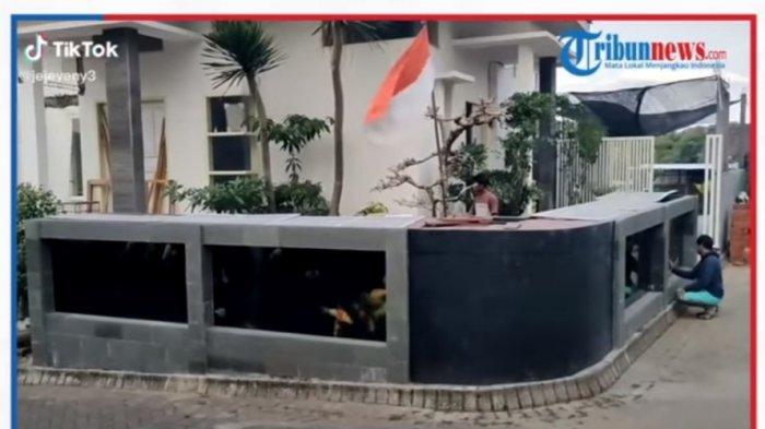 Viral Video Pria Buat Pagar Rumah dari Kolam Ikan, Habiskan Biaya Hingga Rp 50 Juta