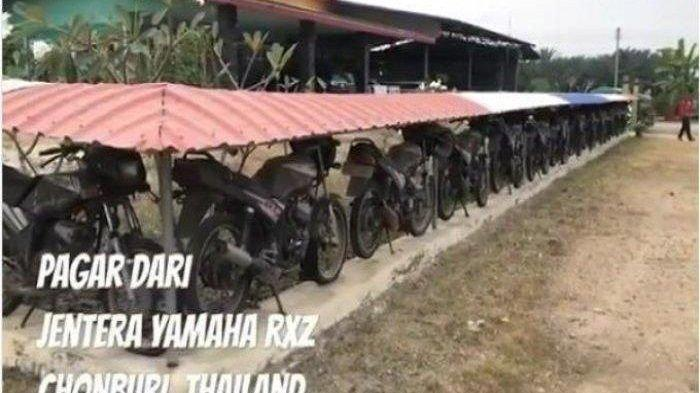Kisah Pria Thailand yang Gunakan Puluhan Sepeda Motor untuk Jadi Pagar Rumahnya, Tajir !