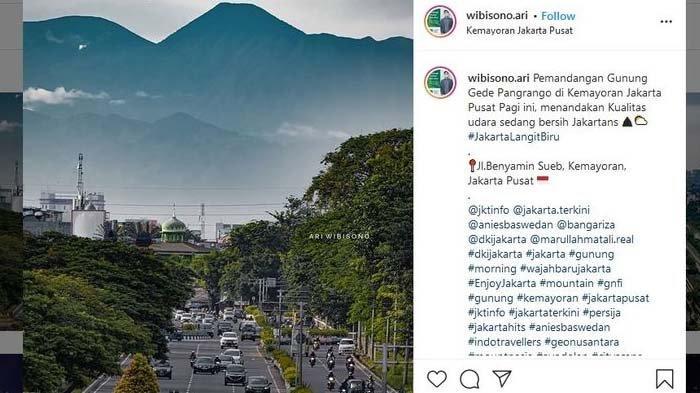 Ari Wibisono Ungkap Proses Motret Gunung Gede Pangrango dari Kemayoran, Bantah Foto Tempelan