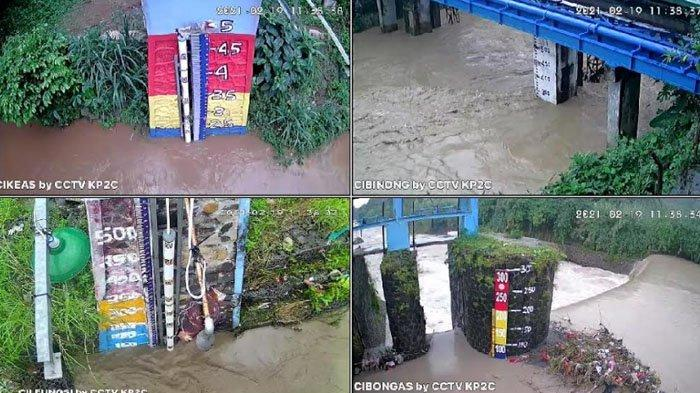 Bogor Diguyur Hujan, Tinggi Muka Air Sungai Pertemuan Cileungsi - Cikeas Siaga 1