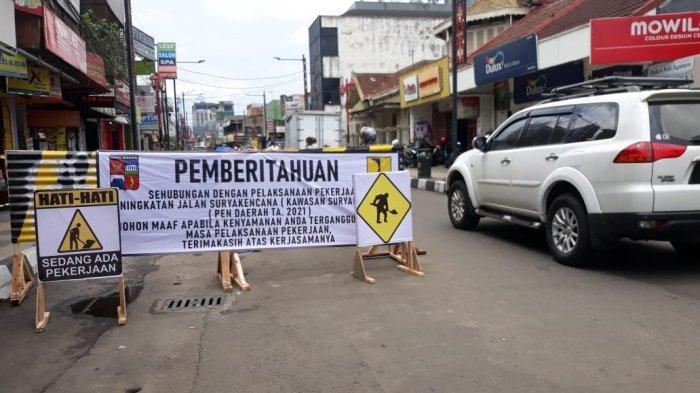 Telan Anggaran Rp 29,6 miliar, Jalan Suryakancana Kota Bogor Dicor
