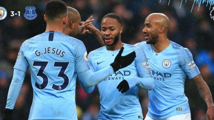 Kalahkan Everton dengan Skor 3-1, Manchester City Rebut Pucuk Klasemen dari Tangan Liverpool
