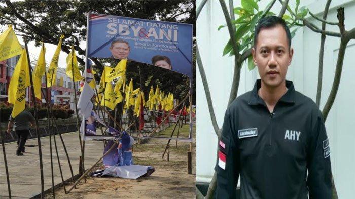 AHY Pertanyakan Pengrusakan Bendera Demokrat dengan Kedatangan Jokowi di Riau: Apakah Ada Kaitannya?