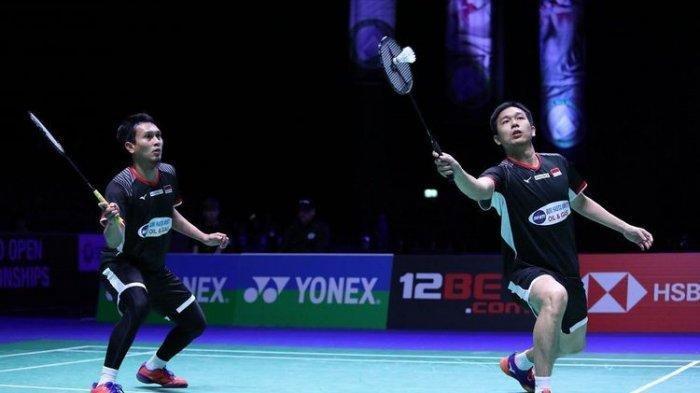 Bermain Tiga Gim, Ahsan/Hendra Gagal Pertahankan Gelar Juara di Final Singapore Open 2019