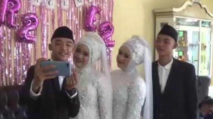 Unik! Kisah Cinta Pasangan Sesama Kembar yang Menikah Satu Pelaminan, Alami Cerita Lucu saat Pacaran