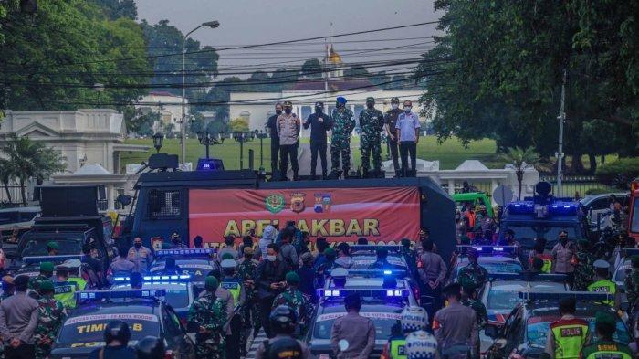 Wali Kota Bogor Bima Arya bersama jajaran Forkopimda menggelar patroli Pemberlakuan Pembatasan Kegiatan Masyarakat (PPKM) Darurat, Sabtu (3/7/2021).