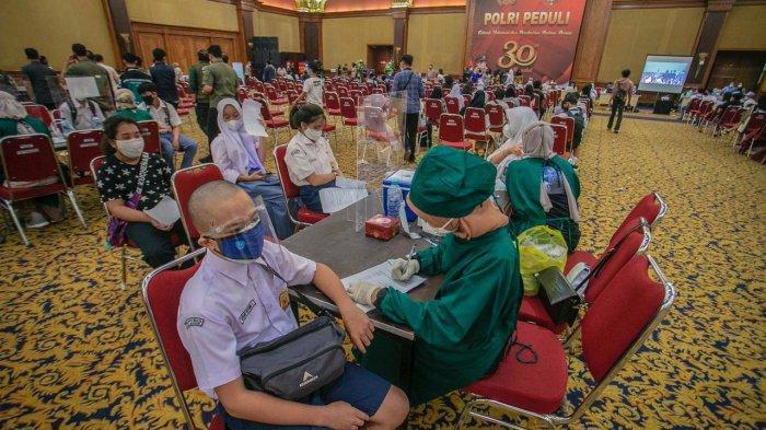 Vaksinasi Massal Kota Bogor, 2.598 Pelajar Disuntik Vaksin Dosis Pertama