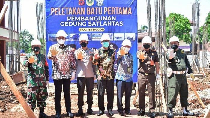 Gedung Satlantas Polres Bogor Dibangun, Makan Dana Hibah Pemda Rp 13 Miliar