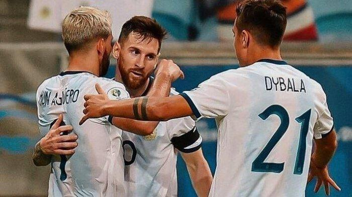 Pemain Timnas Argentina: Sergio Aguero, Lionel Messi dan Paulo Dybala