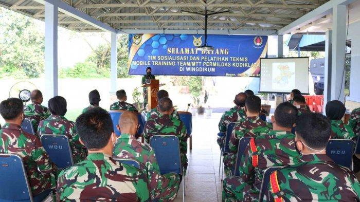 TNI AU Dari Wingdikum Jalani Pelatihan Peraturan Militer Dasar Flight Markas Bogor