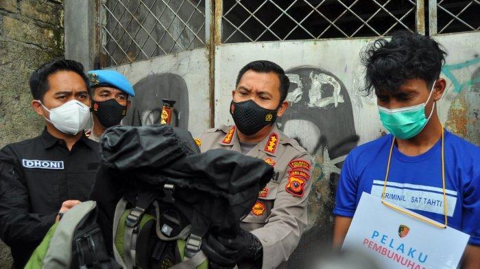 Pembunuh berantai di Bogor ditangkap, Rabu (10/3/2021). Pelaku bawa korban pakai ransel gunung sebelum akhirnya korban dibuang.