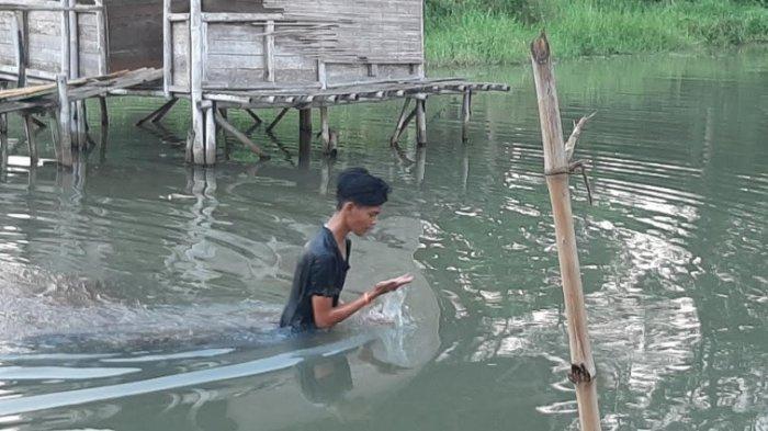 Cara Ngabuburit Unik Pemuda di Bojonggede Bogor, Tangkap Ikan dan Lobster dengan Tangan Kosong