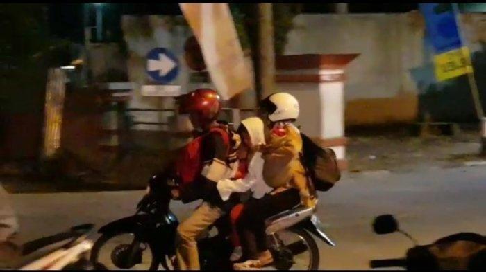 Cerita Pemudik Naik Motor Tua, Bonceng Istri & 3 Anak dari Pemalang ke Surabaya