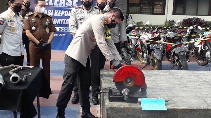 Dalam Sepekan Terakhir, 420 Knalpot Bising di Kabupaten Bogor Disita Polisi