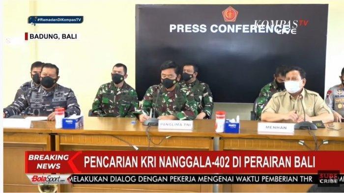 Nama 53 Personel Kapal Selam KRI Nanggala 402 yang Hilang Kontak di Laut Bali