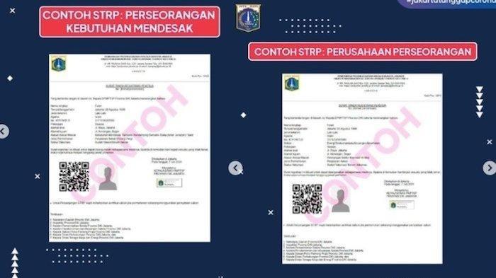 Cara Mengurus Surat Tanda Registrasi Pekerja (STRP), Agar Bisa Masuk Jakarta Selama PPKM Darurat
