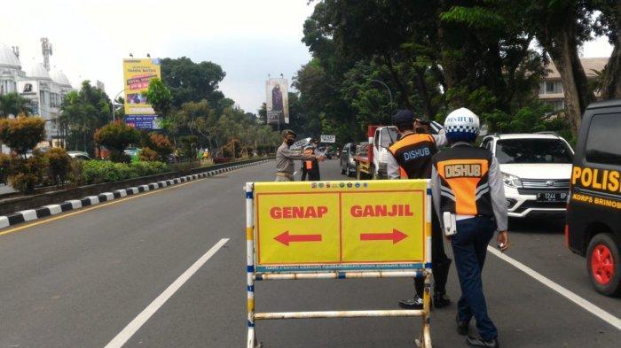Situasi Hari Pertama Penepan Ganjil Genap di Kota Bogor, Banyak Kendaraan Diputar Balik ke Arah Tol