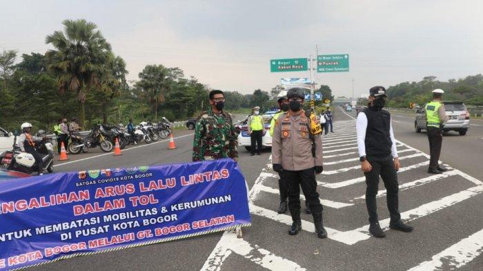 Antisipasi Kepadatan Imbas Penyekatan di Puncak, Polresta Bogor Kota Lakukan Pengalihan Arus Lalin