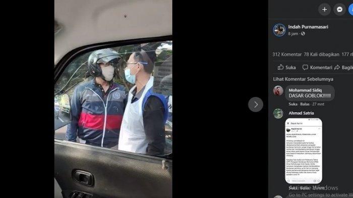 Video Pengendara Motor Adang Ambulans yang Bawa Pasien di Depok