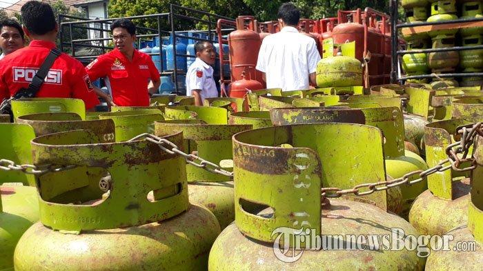 Bos Pengoplos Gas Di Bogor Ditangkap, Polisi Turut Sita Ratusan Gas Melon