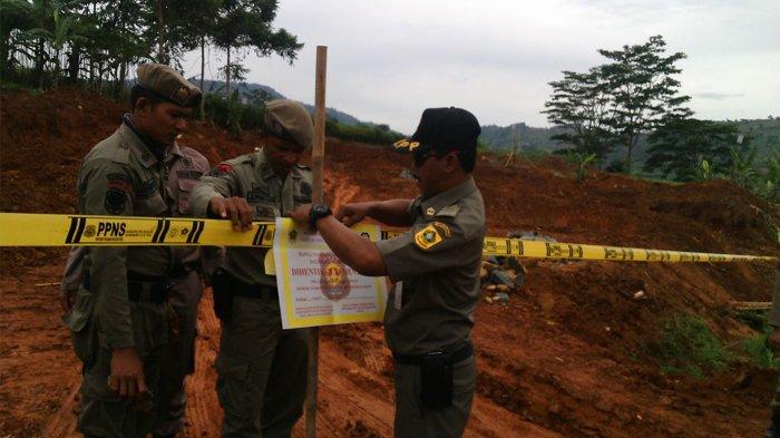 Pengusaha Tak Kantongi Izin, Satpol PP Kabupaten Bogor Segel Tiga Lokasi Galian