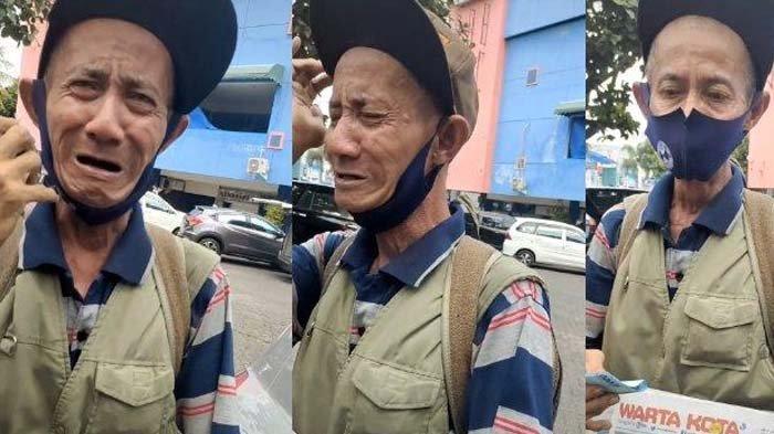 Pria asal Jakarta, Petrus, membagikan kisah di balik video penjual koran yang menangis