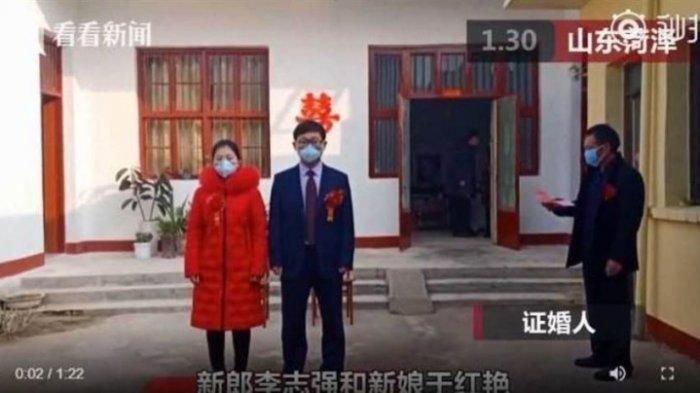 Viral Dokter Asal China Menikah di Tengah 'Serangan' Virus Corona, Begini Suasana Pestanya