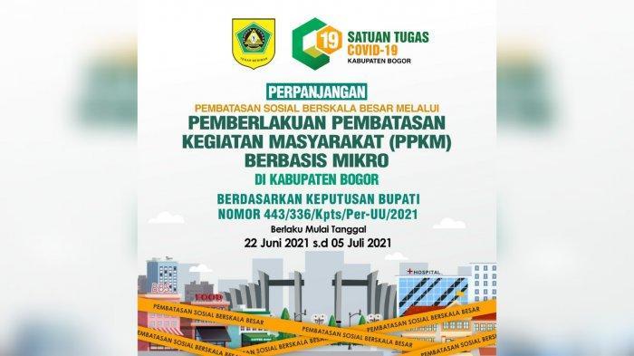 PPKM Mikro di Kabupaten Bogor Diperketat, Pembatasan Keramaian Diturunkan Jadi 25 Persen
