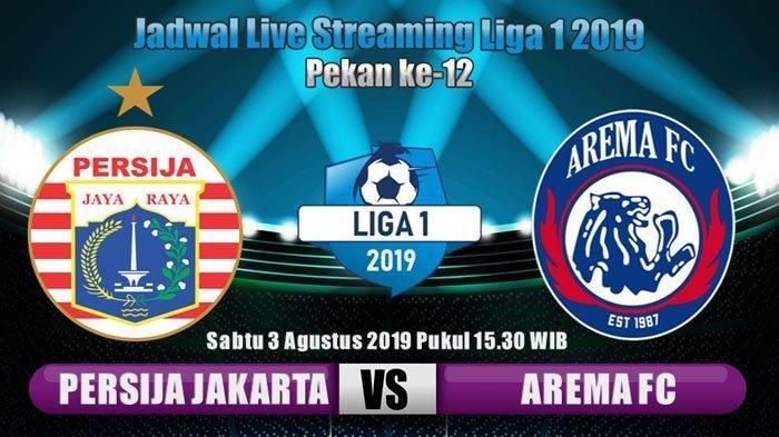 LIVE STREAMING Persija Jakarta vs Arema FC di Vidio.com, Siaran Langsung Indosiar Kick Off 15.30 WIB