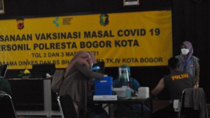 Ratusan Personel Polresta Bogor Kota Kembali Divaksin