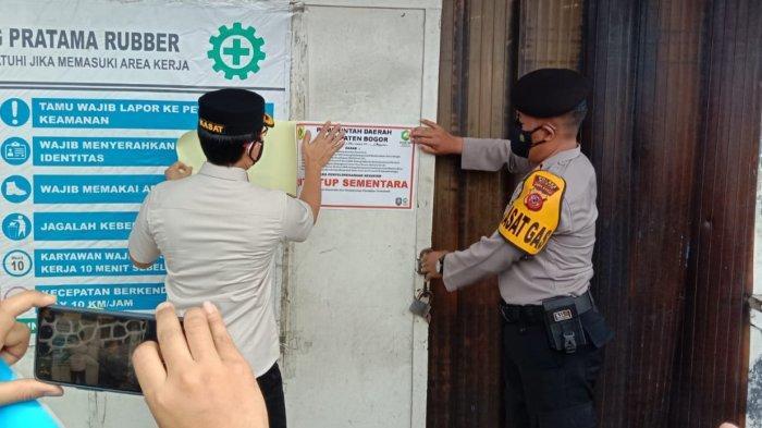 Nekat Beroperasi Saat PPKM Darurat dan Tak Lapor, Dua Perusahaan di Citeureup Bogor Ditutup