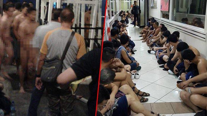 Pesta Gay Digerebek Polisi, Puluhan Pria Digiring Sambil Tutup Bagian Intim