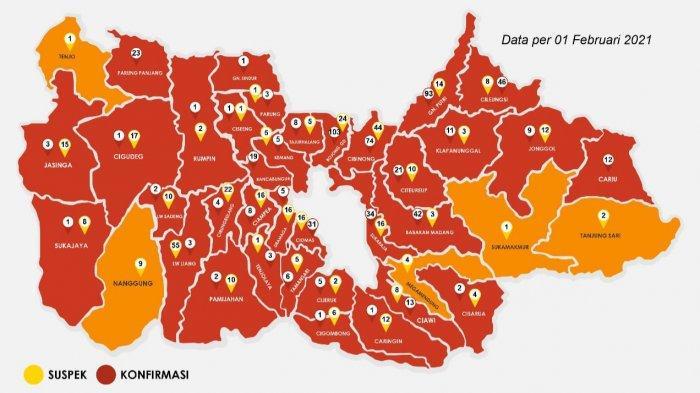 Update Covid-19 Kabupaten Bogor 1 Februari 2021 : Bertambah 66 Sembuh, 97 Positif Baru