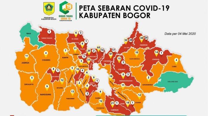 UPDATE Penyebaran Virus Corona di Kabupaten Bogor 4 Mei 2020, Zona Hijau Tinggal 2 Kecamatan