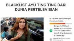Petisi Ayu Ting Ting untuk diblacklist dari TV sudah ditandatangani belasan ribu orang