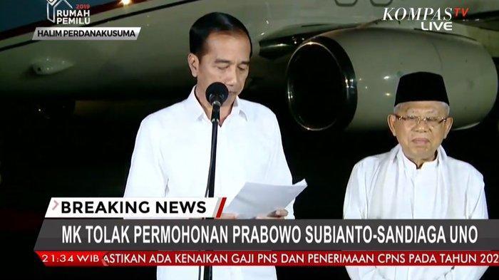 Jokowi Nilai Sidang MK Berjalan Adil dan Transparan